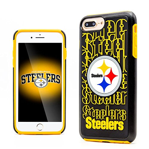 iPhone 7 Plus Case, Dreamwireless Dream Impact Pittsburgh Steelers Dual Layer [Shock Absorbing] Protection Hybrid PC/TPU Rubber Case Cover for Apple iPhone 7 Plus, Black/Yellow ()