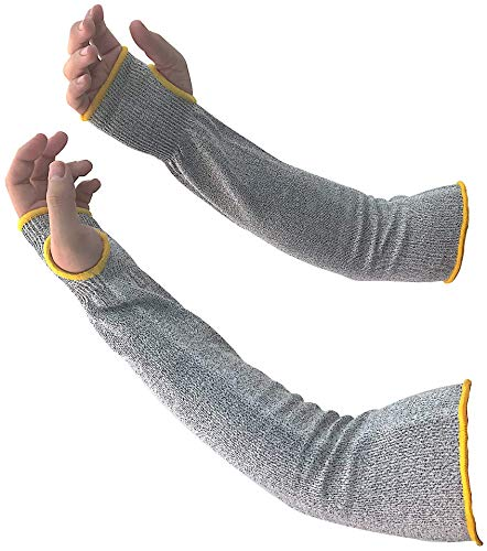 Cut Resistant Sleeves Arm Protectors for Thin Skin and Bruising | Arm Protection Sleeves Level 5 Protection | Protective Arm Guards | Lighter Than Kevlar Sleeves | Thumb Slot UV-Protection Safety Gear
