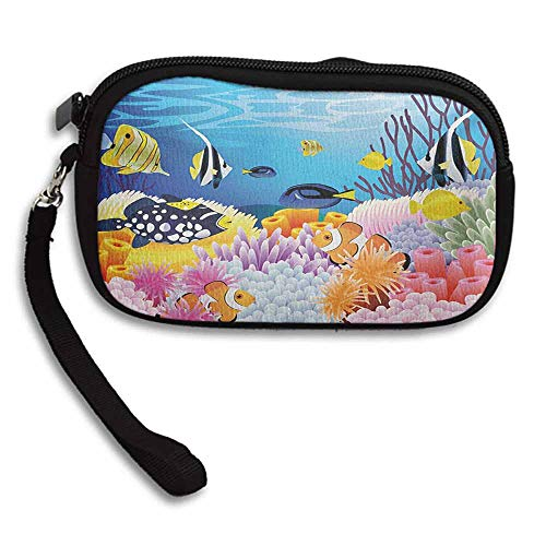 Fish Clutchs Water Life with Different Kind of Fishes Coral Reefs and Sponges Kids Nursery Theme W 5.9