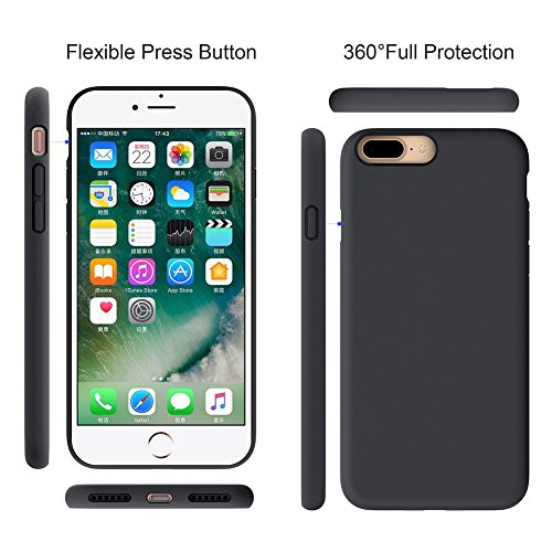 """Miracase iPhone 8 Plus Case, iPhone 7 Plus Case, Shockproof Silicone Case with Full Body Protection, Anti-Scratch Microfiber Lining, Drop-protect Rubber phone Case for iPhone 7 Plus/iPhone 8 Plus 5.5"""""""