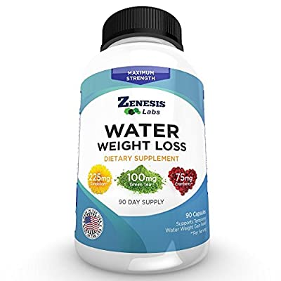 Water Pill Diuretic - Weight Loss - 90 Capsules (50% More Capsules Than Competitors)