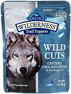 Blue Buffalo Wilderness Trail Toppers Chunky Chicken Bites Dog Food, 24 By 3 Oz. from Pro-Motion Distributing - Direct