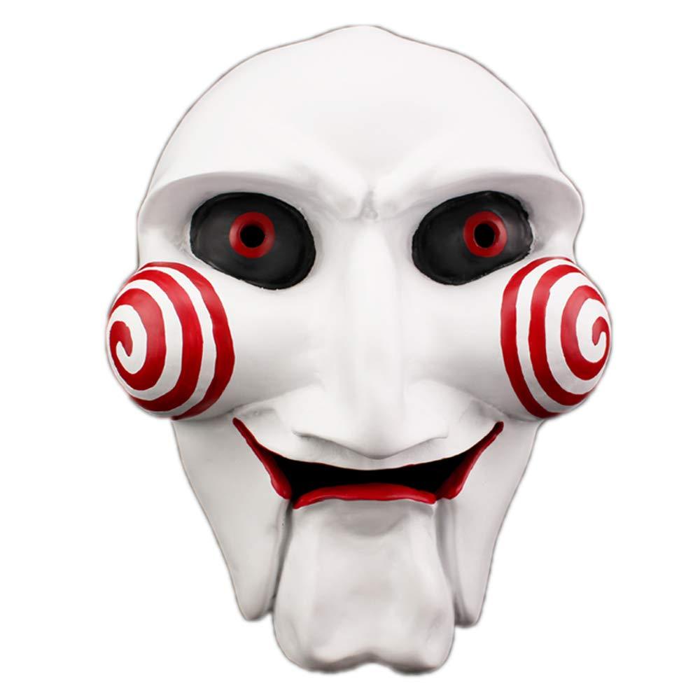 DASENLIN Máscara, Máscara De Halloween Horror, Horror Motosierra Fright Movie Theme, Viste Máscara De Resina, Tamaño: 22.5  15Cm