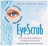 Eye Scrub Sterile Eye Makeup Remover & Eyelid Cleansing Pads 30 ea...