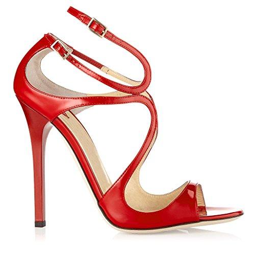 à dames Toe sandales hauts Fashion de Femmes Open par chaussures pointé Kaitzen grande mariage Stiletto talons taille rouges 8EqdxIw5I