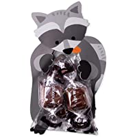 Mei Yun 10Pcs Cute Plastic Cookie Bags Diy Greeting Card Candy Cookie Snack Bags For Baby Birthday Party Decor Gift (Fox…