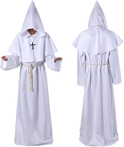 Carrey - Disfraz de Monje para Adultos, Disfraz de Mago, Disfraz ...