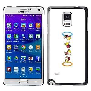 // PHONE CASE GIFT // Duro Estuche protector PC Cáscara Plástico Carcasa Funda Hard Protective Case for Samsung Galaxy Note 4 / Calvin Hobbs Portal /