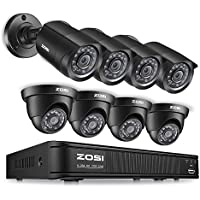 ZOSI 8 Channel 720p Security Camera System,HD-TVI 1080P Lite Video DVR Recorder and (8) 1.0MP Indoor/Outdoor Surveillance CCTV Cameras with IR Night Vision LEDs (NO HDD)