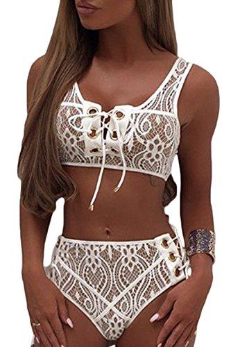 White Lace Bikini - 2
