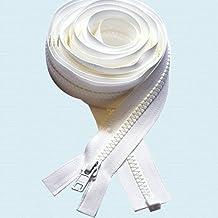 "108\"" Zipper ~ Long Arm Quilting Machine Zipper ~ YKK #5 Molded Plastic ~ Separating - White (1 Zipper)"