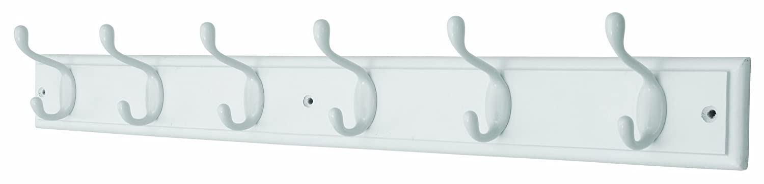 Headbourne Azhr0644 6-Heavy Duty Chrome Hooks on Wooden Board Coat Rack Hanger Select Hardware