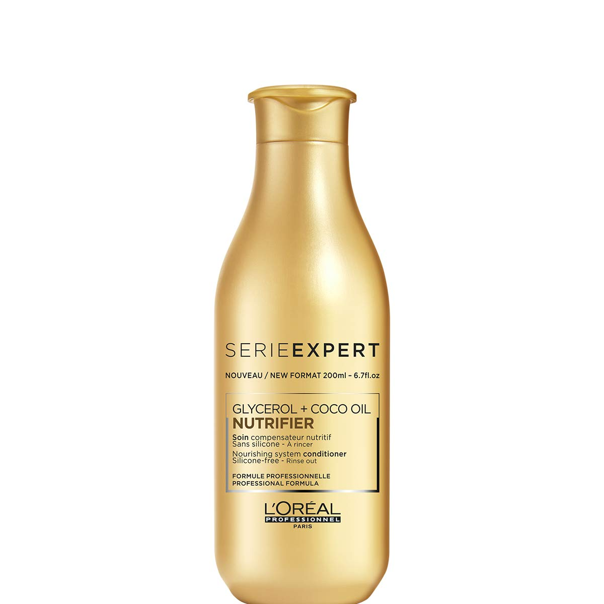 L'Oreal Professionnel Serie Expert - Nutrifier Glycerol + Coco Oil Nourishing System Silicone-Free Conditioner 200ml/6.7oz