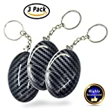 Electronics : 130dB Personal Alarm Premium Emergency Safety Sound Whistle Self-Defense Security Alarm Cute Bag Decoration for Kids/Women/Girls/Elderly Self Protection (3 Pack, Black)