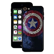 Artistic Ipod Touch 6th Case, Captain America Logo -Marvel Comic Superhero Hard Plastic Phone Case Cover for Ipod Touch 6th