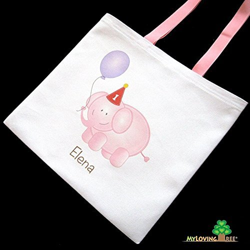 Pink And Blue Elephant First Birthday 1st Party Bags Boys Girls Baby Shower Favor