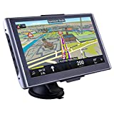 Image of CARMATE GPS Navigator for Truck and Car with Bluetooth 7-Inch Touch Screen and America Map Updates with Sun Visor