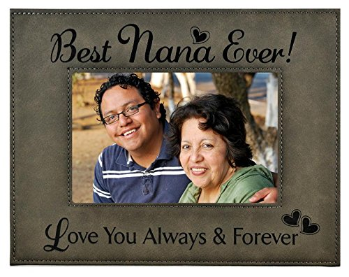 "GIFT NANA PICTURE FRAME ~ Engraved Leatherette Frame ~ ""Best"