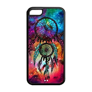 Galaxy Nebula DreamCatcher Protective Rubber Back Fits Cover Case for iPhone 5C