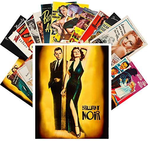 Postcard Set 24 cards Film Noir Lady Vintage Hardboiled Movie Posters Ads