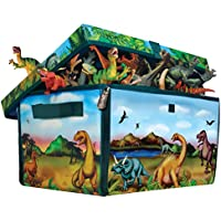ZipBin 160 Dinosaur Collector Toy Box & Play set w/2...