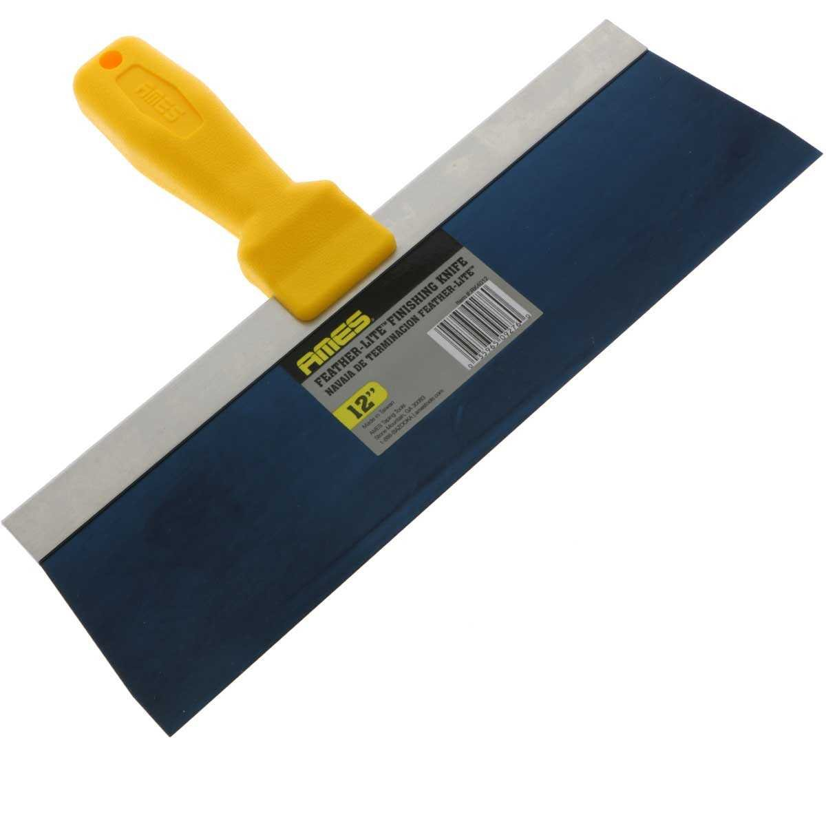 Ames Strong Handle Blue Steel Drywall Taping Knife 12''