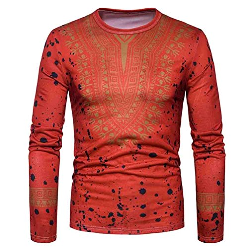 YOcheerful Men's Shirt Top Long Sleeve Sweatshirt Knitted