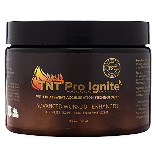 Fat Burning Gel - TNT Pro Ignite Stomach Fat Burner Body Slimming Cream With HEAT Sweat Technology - Thermogenic Weight Loss Workout Enhancer (6.5 oz Jar)