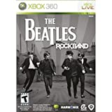 Xbox 360 2 Wireless Guitar Controllers + Rock Band BEATLES Video Game kit bundle set music