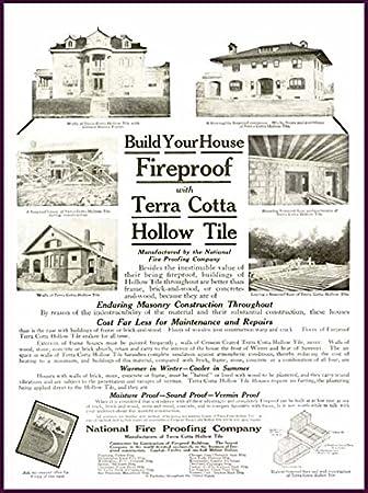 Amazon com: Fireproof Houses in 1910 Terra Cotta Hollow Tile
