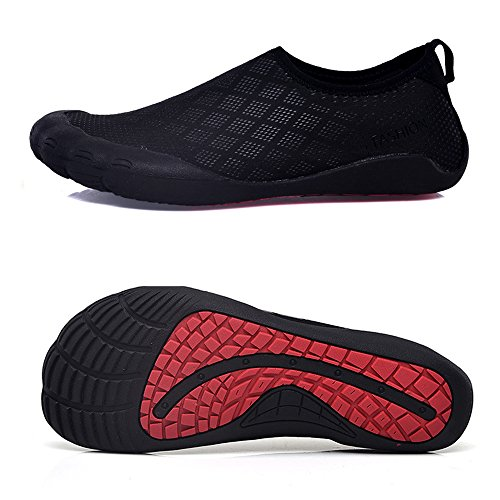 Duty Footwear Heavy (Water Shoes for Men Quick-Dry Aqua Sock Outdoor Athletic Sport Shoes for Kayaking, Hiking, Surfing (11 D(M) US, FiveFingers- Black Diamond))