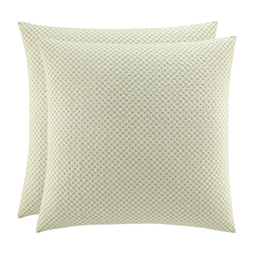 Laura Ashley Rowland European Pillow Sham Set, Euro, Sage
