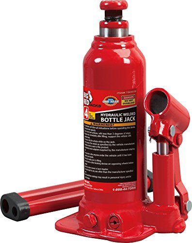 (Torin Big Red Hydraulic Bottle Jack, 4 Ton Capacity)