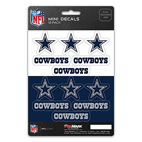 ProMark NFL Dallas Cowboys DecalDecal Set Mini 12 Pack, Team Colors, One -