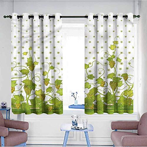 VIVIDX Doorway Curtains,Vineyard,Retro Garden Flowers,Great for Living Rooms & Bedrooms,W55x45L