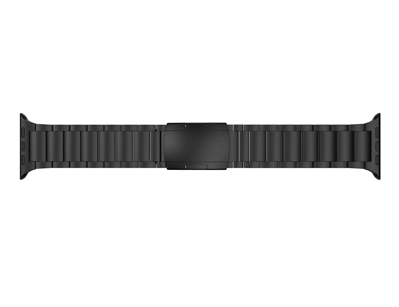 LDFAS Compatible for Apple Watch Band 44mm/42mm, Titanium Metal Watch Strap with Double Button Clasp Compatible for Apple Watch Series 4/3/2/1, Black by LDFAS (Image #4)