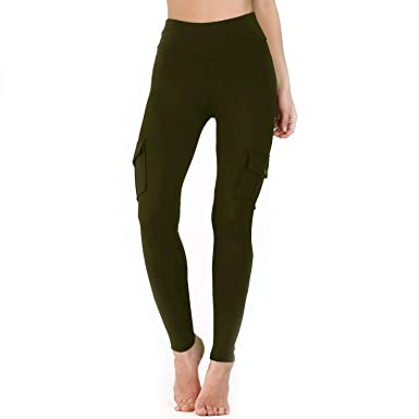 0d435780675ec Lotus network High Waist Skinny Cargo Pants for Women Both Side Pocket Hip  Pocket Booty Leggings at Amazon Women's Clothing store: