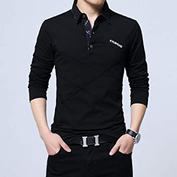 NISHIPANGZI Polo Shirt Hombres Plus Otoño Invierno Polo para ...
