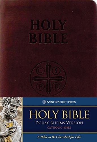 Douay-Rheims Bible (Burgundy Premium UltraSoft): Standard Print Size - Douay Rheims Bible