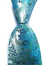Men's Classic Floral Jacquard Woven Microfiber Formal Tie Party Necktie