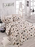 Animals Dogs Bedding, Full/Queen Size Bedspread/Coverlet Set, Dogs Themed Girls Boys Bedding, 3 PCS,