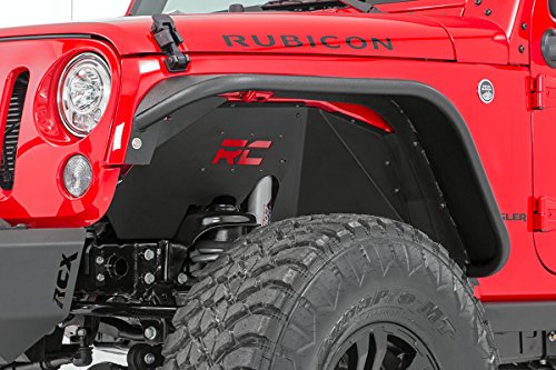 Rough Country 1195 Front Steel Inner Fender Liners for Jeep 4WD, 07-18 Wrangler Unlimited JK 4WD/2WD