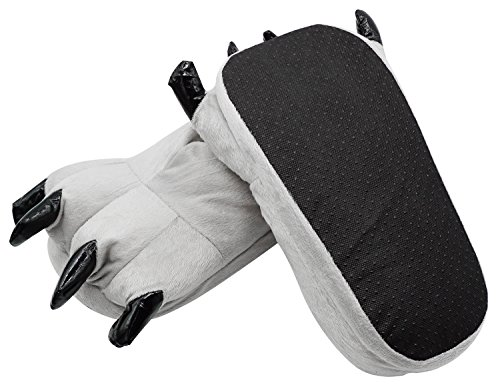 Grey Claws Shoes Halloween Costume Plush Slippers, M from Bienvenu