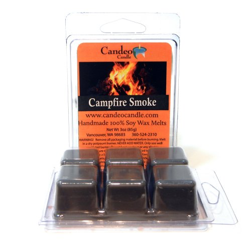 Campfire Smoke, Super Scented Soy Melt Cubes, Pack of 2- Use in Tart Warmers, Tea Light Warmers, Oil Warmers or Scentsy Warmers!