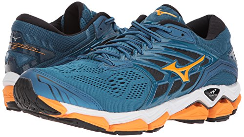d2ead0cfe8bb Mizuno Wave Horizon 2 Men's Running Shoes, Blue Sapphire/Bright Marigold/Black,  11.5 D US: Buy Online at Low Prices in India - Amazon.in