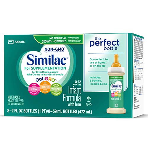 Similac For Supplementation Infant Formula with Iron, Ready-to-Feed Bottles, 2 Ounce, (48 ct) by Similac (Image #6)