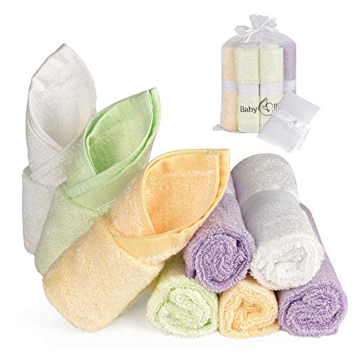 """Natural Bamboo Baby Washcloths (8-Pack) 