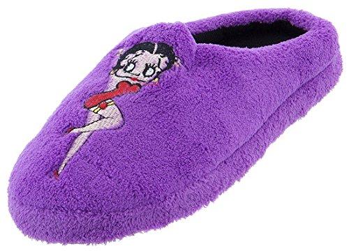 Pantofole Di Peluche Da Donna Betty Boop Viola