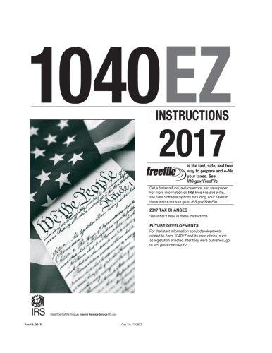1040ez Instructions 2017 Internal Revenue Service Irs