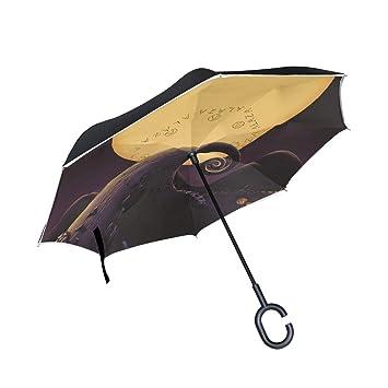 Paraguas invertido de pesadilla antes de Navidad, diseño artístico ...